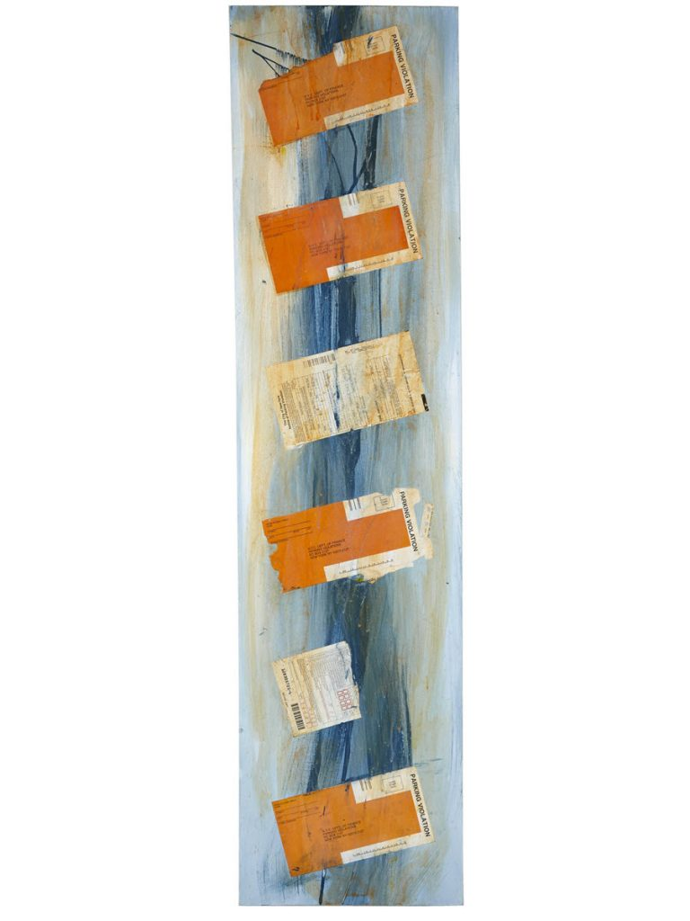 Vertical Blue, 2013, 48 x 12