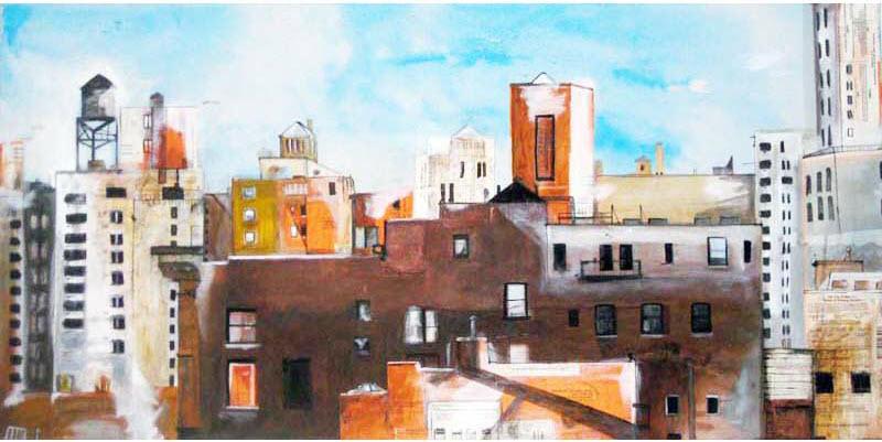 Cityscape, 2008, 24 x 48