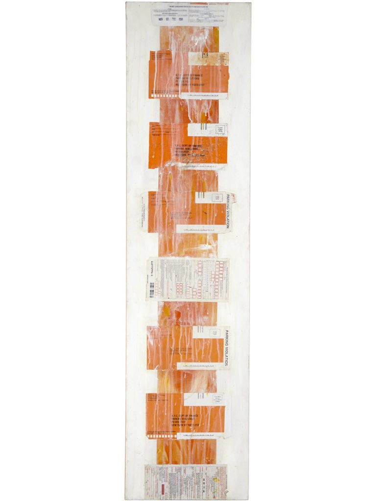 Vertical Orange, 2013, 48 x 12