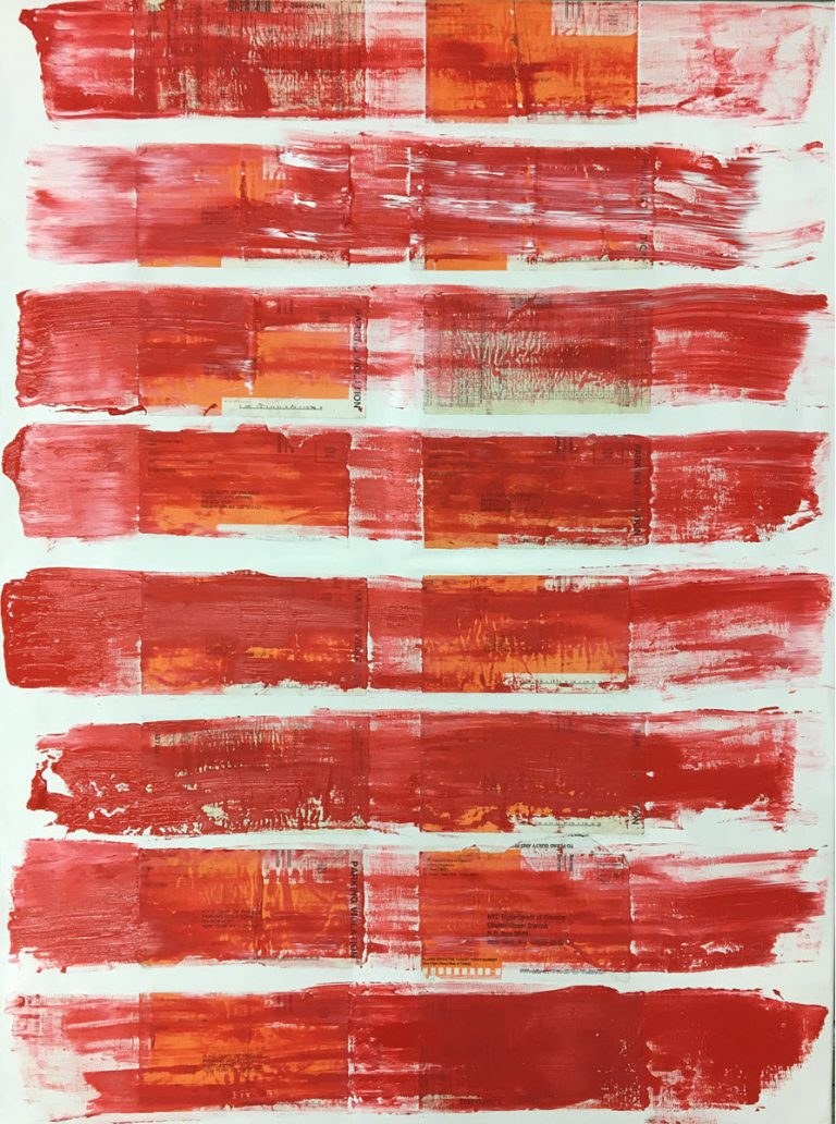 Red Lines, 2017, 40 x 30