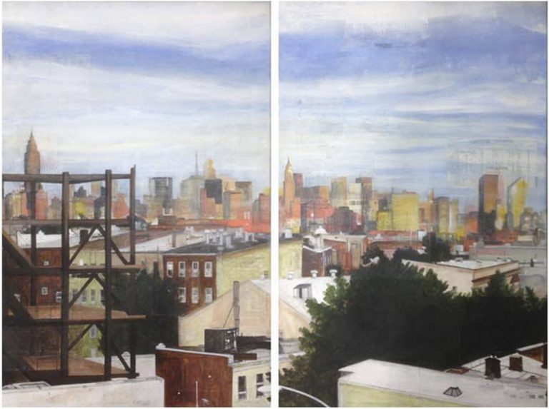 Greenpoint Diptych, 2016, 36 x 24 each