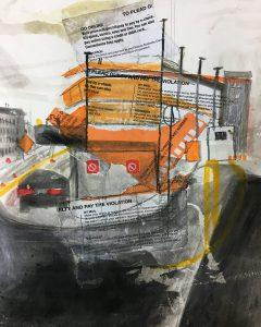 Banker Street, 2017, 12 x 9
