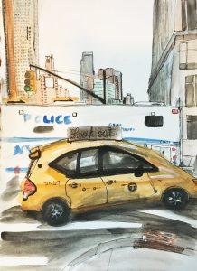 Police Wagon, 2016, 10 x 8